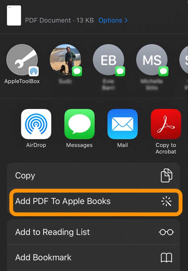 add your own shortcut to your share sheet for iPhone, iPad, or iPod