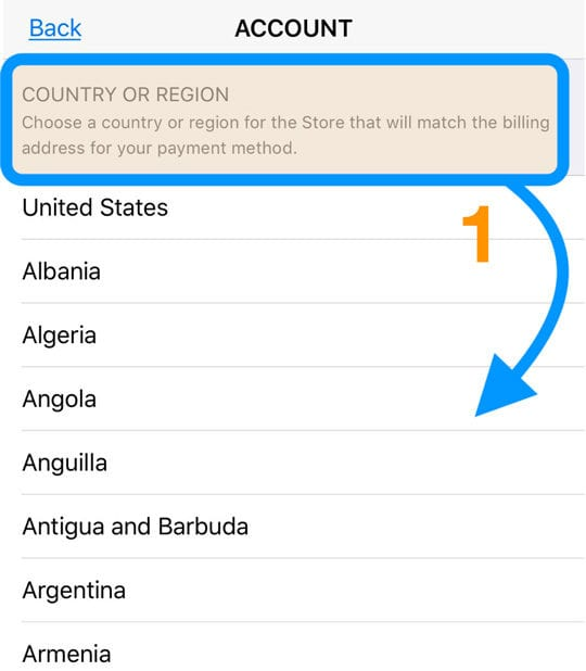new region or country for Apple ID