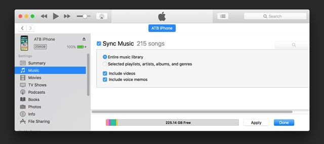 Sync Voice Memos App With iTunes 12.8