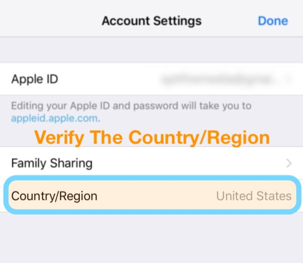 How to change app store region with balance