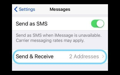 iMessage Displays The Wrong Phone Number, fix