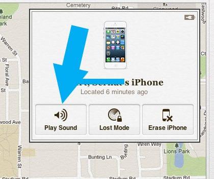 iCloud play sound