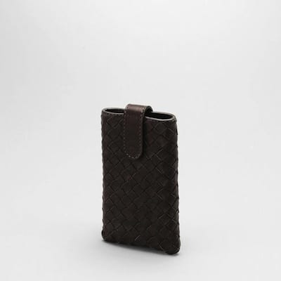 Intrecciato leather iPhone sleeve by Bottega Veneta