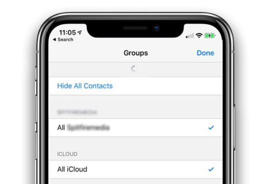 how to refresh contacts on an iPhone using iOS 12