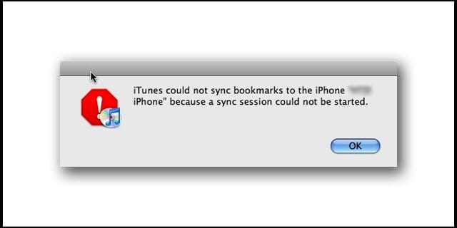 "Back up / Sync not working: ""Session could not be started with iPhone"" iTunes error fix"