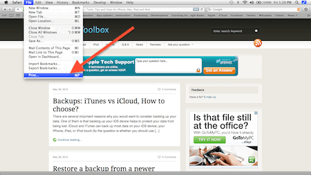 save a web site as pdf