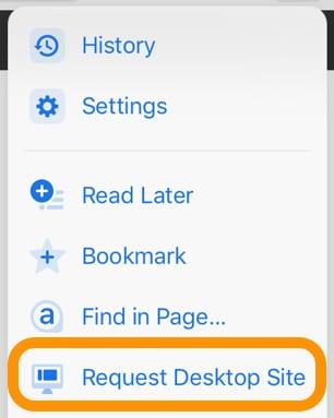 request desktop site on chrome