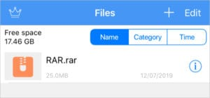 RAR file in Unzip
