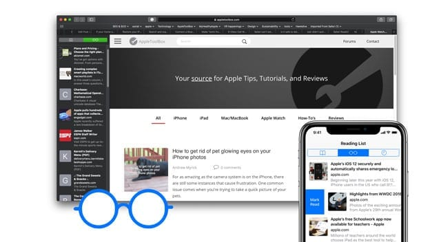 reading list on Safari vanishes or disappears