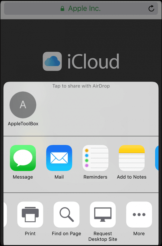 How to Login to iCloud com on Your iPhone or iPad - AppleToolBox