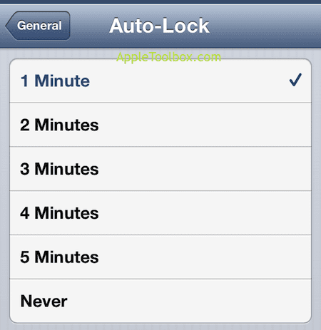 iPhone auto lock