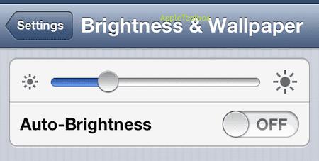 iphone brightness