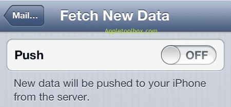 iPhone push off
