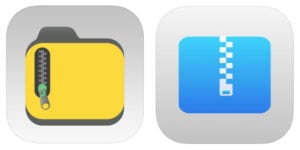 iZip and Unzip app icons