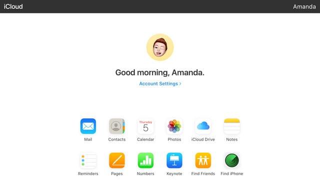 iCloud.com on an iPad with iPadOS and iOS 13