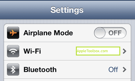 wifi and bluetooth settings