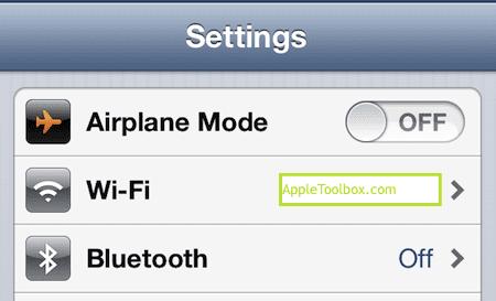 wifi and bluetooth settings