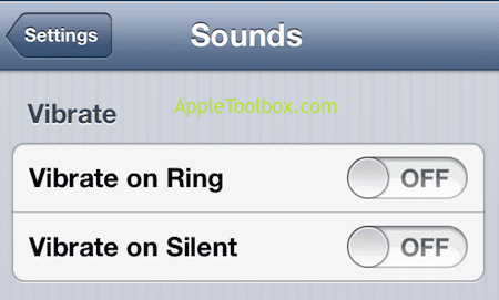 sound and vibration iPhone