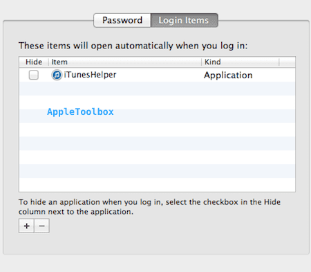 login items users mac