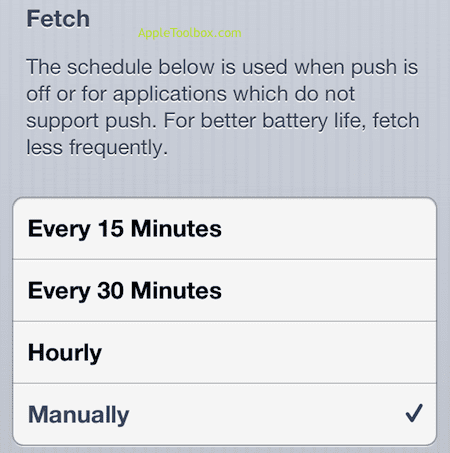fetch data manually