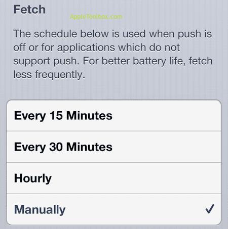 fetch data manually