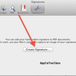 Mac: How to create a digital signature and sign PDF files in OS X