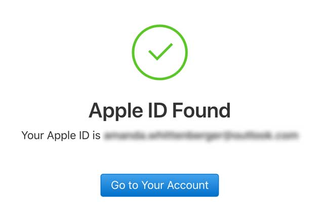 apple id found