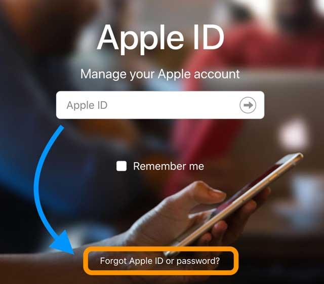 forgot apple id or password using apple's Apple ID website
