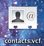 contacts vcf file