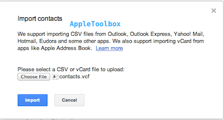 import google contacts