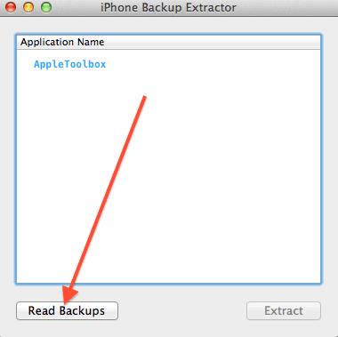Read backups