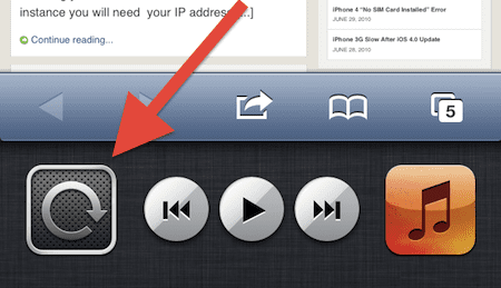 iPhone lock orientation