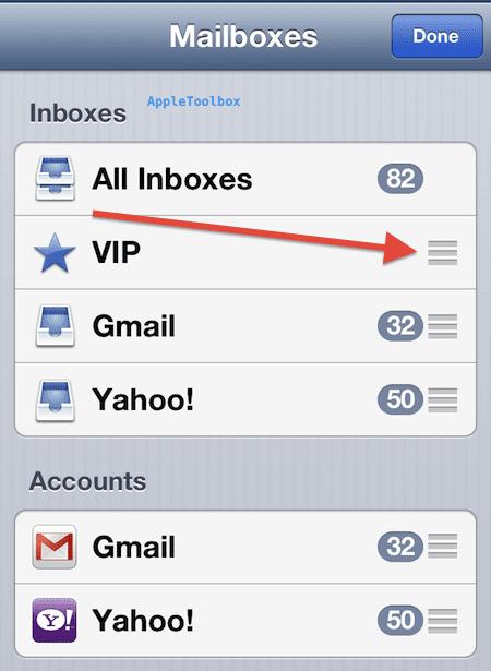 VIP mailbox move