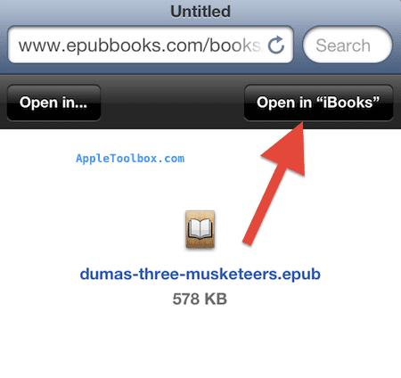 open epub in ibooks