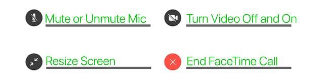 Mac FaceTime On-Screen Controls