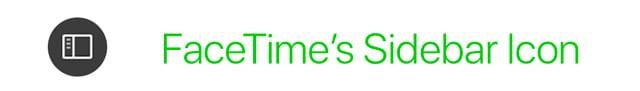 sidebar icon FaceTime on Mac