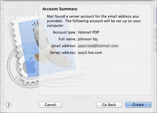 Account final steps