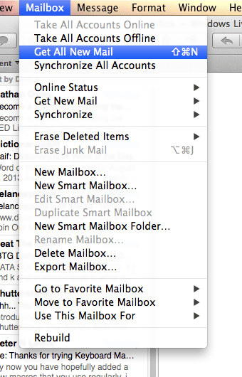 OS X get new mail