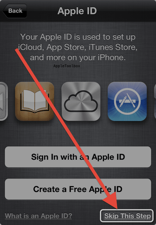 Skip Apple ID when you set up as new