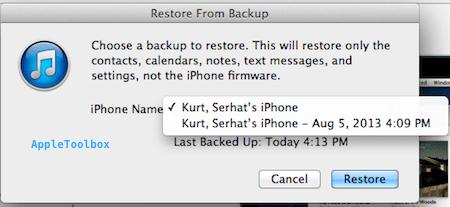 old backup restore