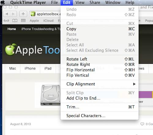 Edit your screen capture