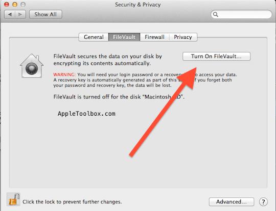 Mac OSX filevault
