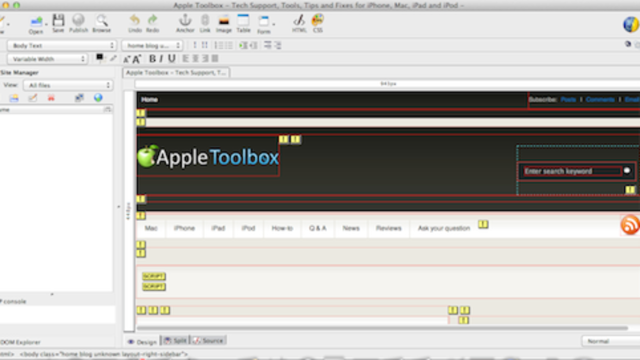 Best Free Wysiwyg Html Editors For Macos And Mac Os X Appletoolbox