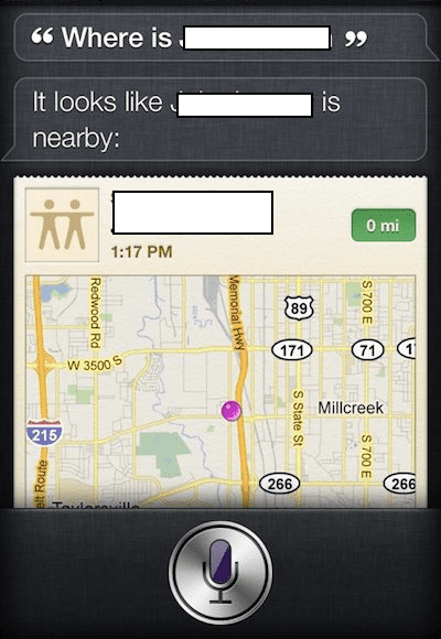 Siri Find My Friends