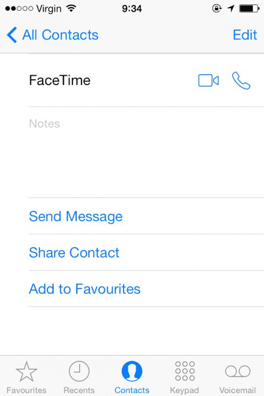FaceTime Audio Calls iOS 7