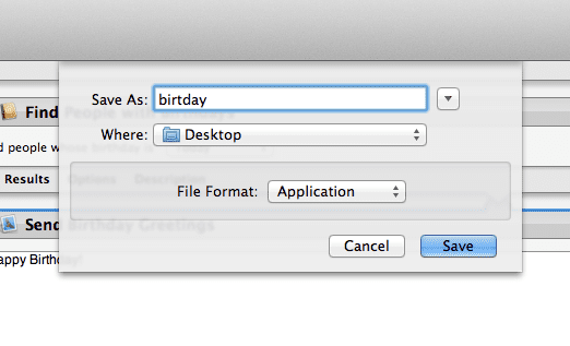 Save your workflow