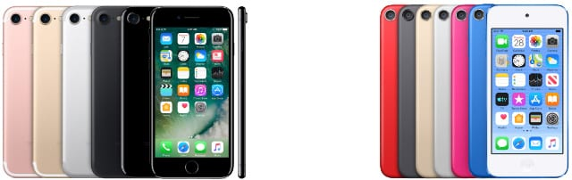 iPhone 7 and iPod (7th generation)