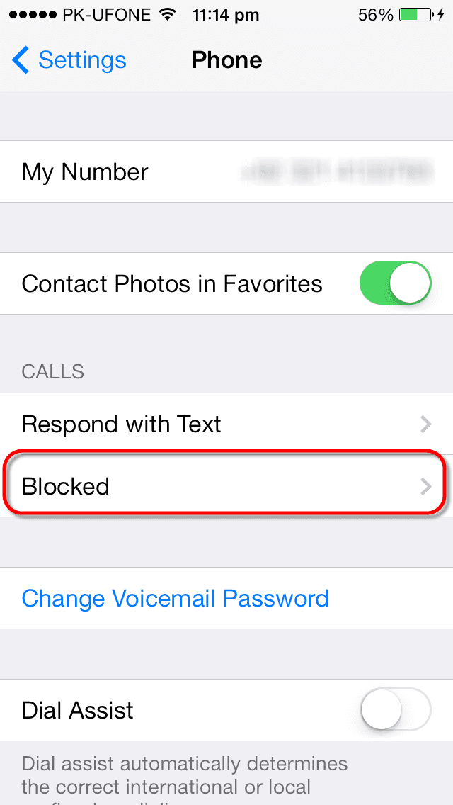 How to block and unblock contacts in iOS 7