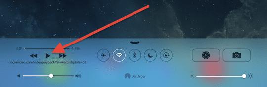 iOS 7 play video