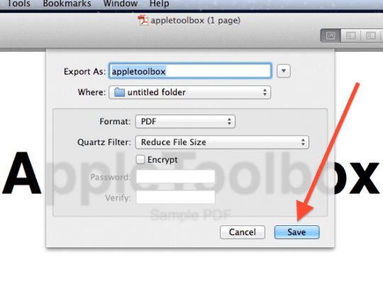 Mac os x how to reduce pdf file sizes appletoolbox note you can also follow these steps using the colorsync utility simply open the pdf file in colorsync and select reduce file size ccuart Images